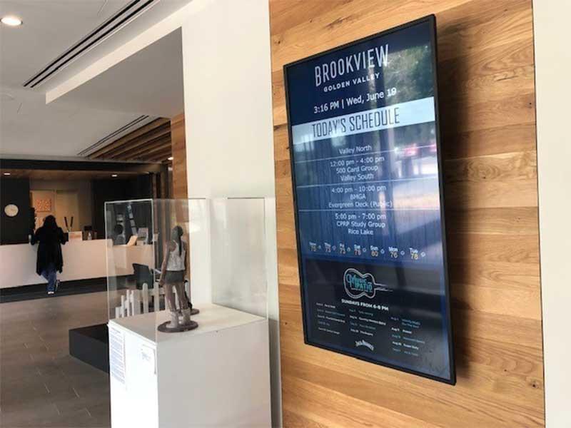 New Brookview Community Center Gets a Digital Signage Upgrade